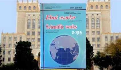 Elmi əsərlər 2(15)-2010