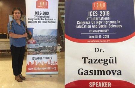Старший научный сотрудник Института философии НАНА Тазагюль Гасымова приняла участие в  Международном конгрессе в г.Стамбул