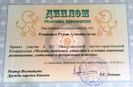 Ruşan Ruşanzadə beynəlxalq konfransda iştirak edib